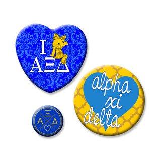 Alpha Xi Delta Button Set