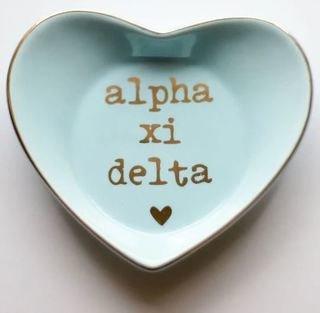 Alpha Xi Delta Ceramic Ring Dish