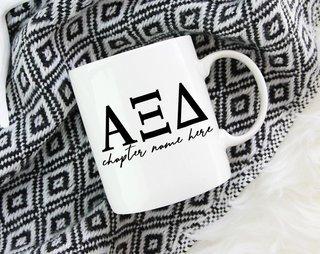 Alpha Xi Delta Chapter Mug