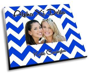 Alpha Xi Delta Chevron Picture Frame