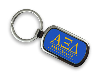 Alpha Xi Delta Chrome Custom Keychain