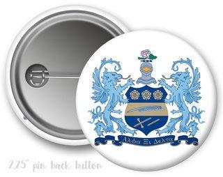 Alpha Xi Delta Color Crest - Shield Button
