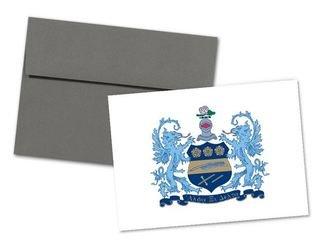 Alpha Xi Delta Color Crest - Shield Notecards(6)