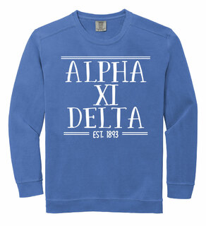 Alpha Xi Delta Comfort Colors Established Crewneck Sweatshirt