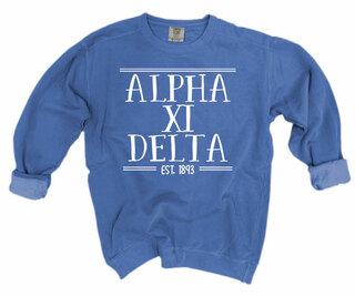 Alpha Xi Delta Comfort Colors Custom Crewneck Sweatshirt