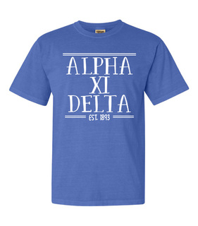 Alpha Xi Delta Comfort Colors Custom Heavyweight T-Shirt