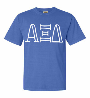 Alpha Xi Delta Comfort Colors Heavyweight Design T-Shirt