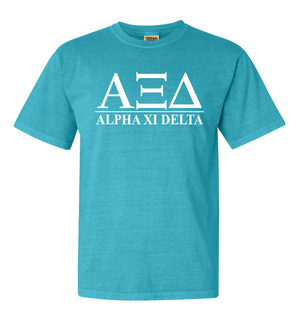 Alpha Xi Delta Comfort Colors Heavyweight T-Shirt