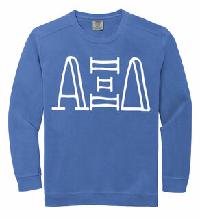 Alpha Xi Delta Comfort Colors Greek Crewneck Sweatshirt