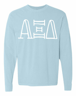 Alpha Xi Delta Comfort Colors Greek Long Sleeve T-Shirt