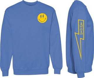 Alpha Xi Delta Comfort Colors Lightning Crew Sweatshirt