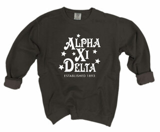 Alpha Xi Delta Comfort Colors Old School Custom Crew