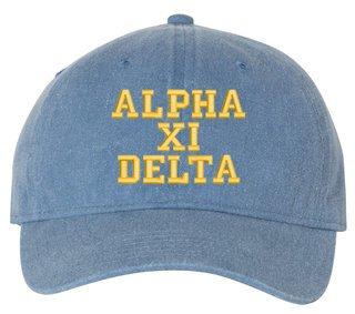 Alpha Xi Delta Comfort Colors Pigment Dyed Baseball Cap