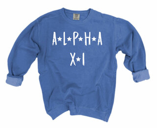 Alpha Xi Delta Comfort Colors Starry Night Crew