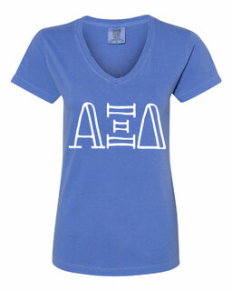 Alpha Xi Delta Comfort Colors V-Neck T-Shirt
