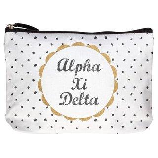 Alpha Xi Delta Cotton Canvas Makeup Bags