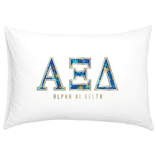 Alpha Xi Delta Cotton Knit Pillowcase