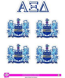 Alpha Xi Delta Crest Sticker Sheet