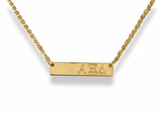 Alpha Xi Delta Cross Bar Necklace