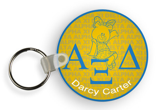 Alpha Xi Delta Custom Mascot Keychains