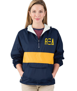 Alpha Xi Delta Fabulous Font Pullover Anorak