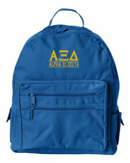 Alpha Xi Delta Custom Text Backpack