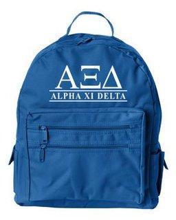 Alpha Xi Delta Custom Text Backpack