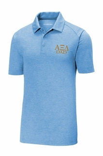 Alpha Xi Delta Dad Posicharge Tri Blend Wicking Polo