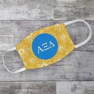 Alpha Xi Delta Daisies Face Mask