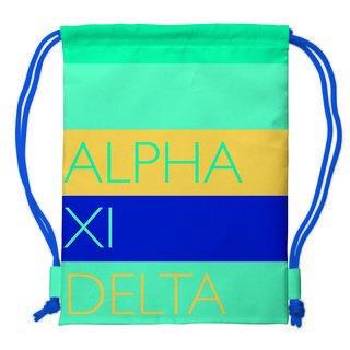 Alpha Xi Delta Drawstring Backpack