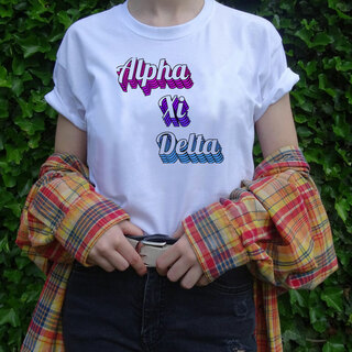 Alpha Xi Delta Echo Tee - Comfort Colors