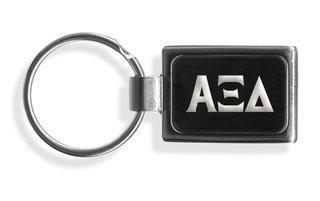 Alpha Xi Delta Engraved Chrome Keychains