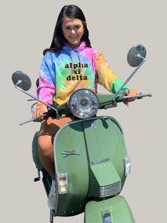 Alpha Xi Delta Eternity Tie-Dyed Pullover Hood
