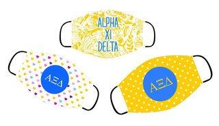 Alpha Xi Delta Face Mask Trio Set