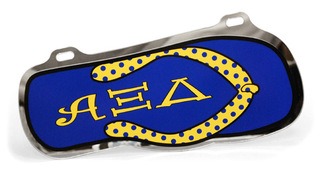 Alpha Xi Delta Flip Flop License Plate Cover