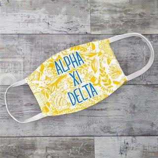Alpha Xi Delta Floral Face Mask
