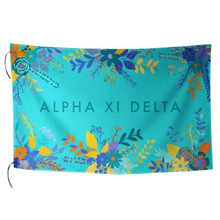 Alpha Xi Delta Floral Flag