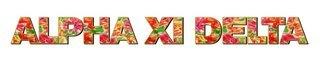 "Alpha Xi Delta Floral Long Window Sticker - 15"" long"