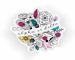 Alpha Xi Delta Flower Sticker