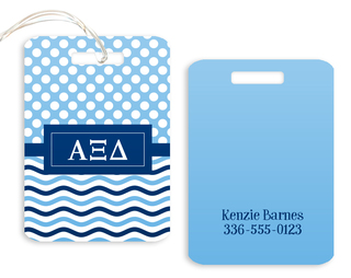 Alpha Xi Delta Geometric Luggage Tag