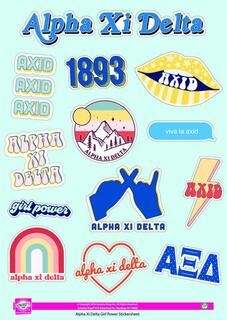 Alpha Xi Delta Girl Power Stickers