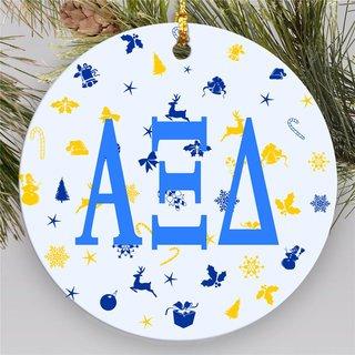 Alpha Xi Delta Holiday Cheer Ornaments