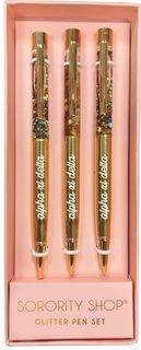 Alpha Xi Delta Glitter Pens (Set of 3)