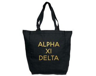 Alpha Xi Delta Gold Foil Tote bag