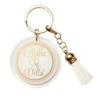 Alpha Xi Delta Tassel Key Chain