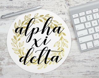 Alpha Xi Delta Gold Wreath Mousepad
