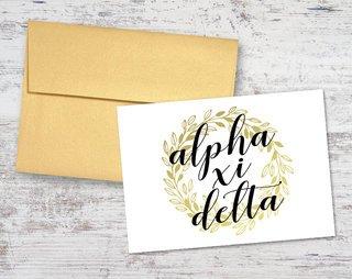 Alpha Xi Delta Gold Wreath Notecards(6)