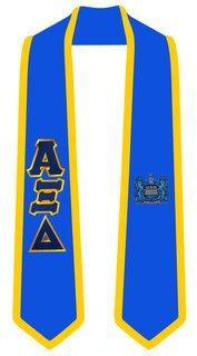 Alpha Xi Delta Greek 2 Tone Lettered Graduation Sash Stole