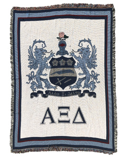 Alpha Xi Delta Greek Afghan Blanket Throw