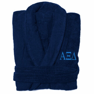 Alpha Xi Delta Greek Letter Bathrobe